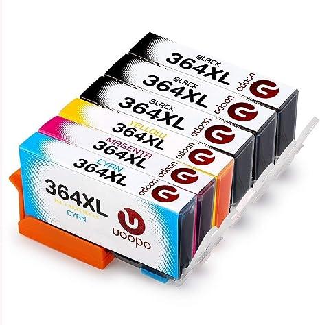 Uoopo 364 XL Alta Compatible Reemplazo 364 364XL Cartuchos de ...