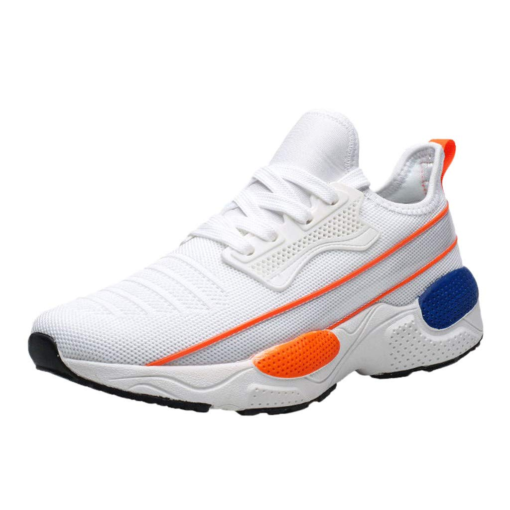 Kauneus Men Mesh Lightweight Breathable Lightweight Fashion Sport Shoes Boys Student Casual Jogging Outdoor Sneakers White by Kauneus Fashion Shoes