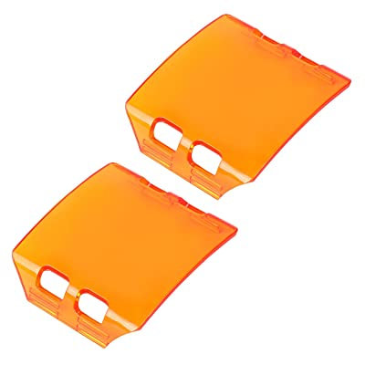 Amber LED Light Cover, Wayup 2Pcs 3 Inch Led Lens Light Cover Protective Tail Light Amber Pods Light Covers for Trucks Jeep Wrangler ATV UTV: Automotive