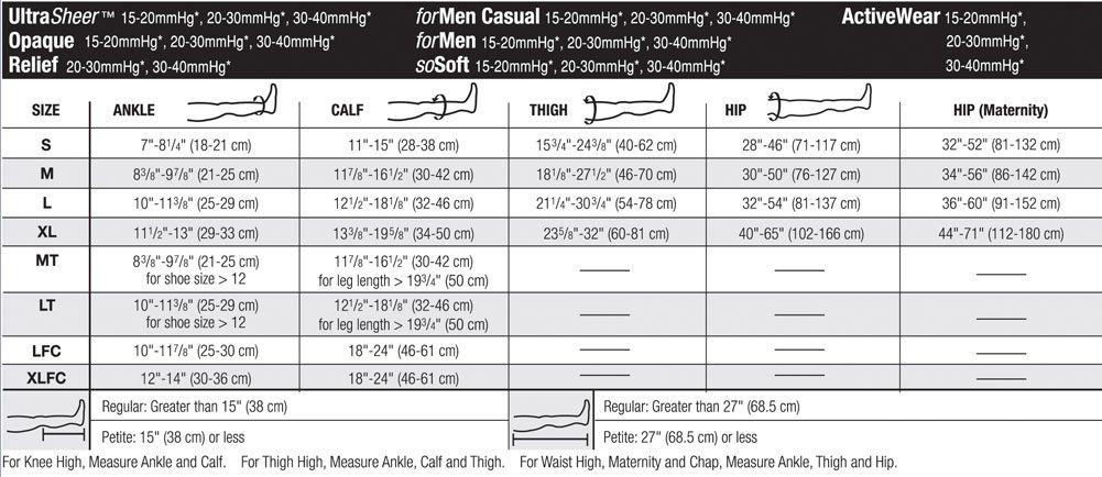 JOBST Opaque Knee High, Closed Toe, 15-20 mmHg, Medium, Midnight Navy, 1/Pair, JOB115205