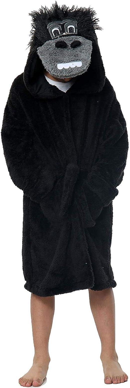 Hoodie Roben Kleinkind Weichen Pyjamas Nachtw/äsche Overmal Kinder Bademantel mit Kapuze f/ür Jungen und M/ädchen Geschenke f/ür Kinder Weich Warm Hausmantel Kuschelig Coral Fleece Morgenmantel