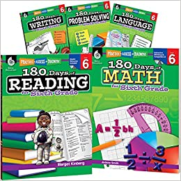 180 Days of Sixth Grade Practice, 6th Grade Workbook Set for ...