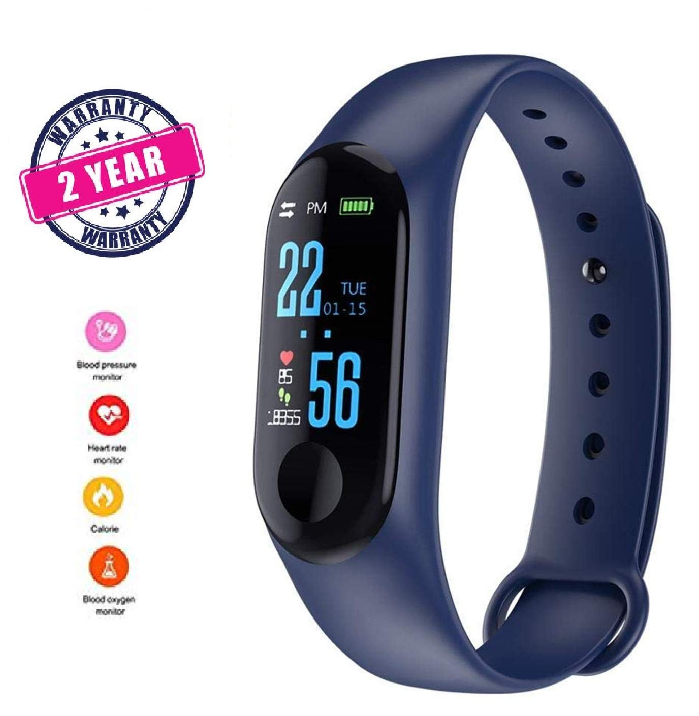 Dyno M3 Smart Band Fitness Tracker Watch Heart Rate with...
