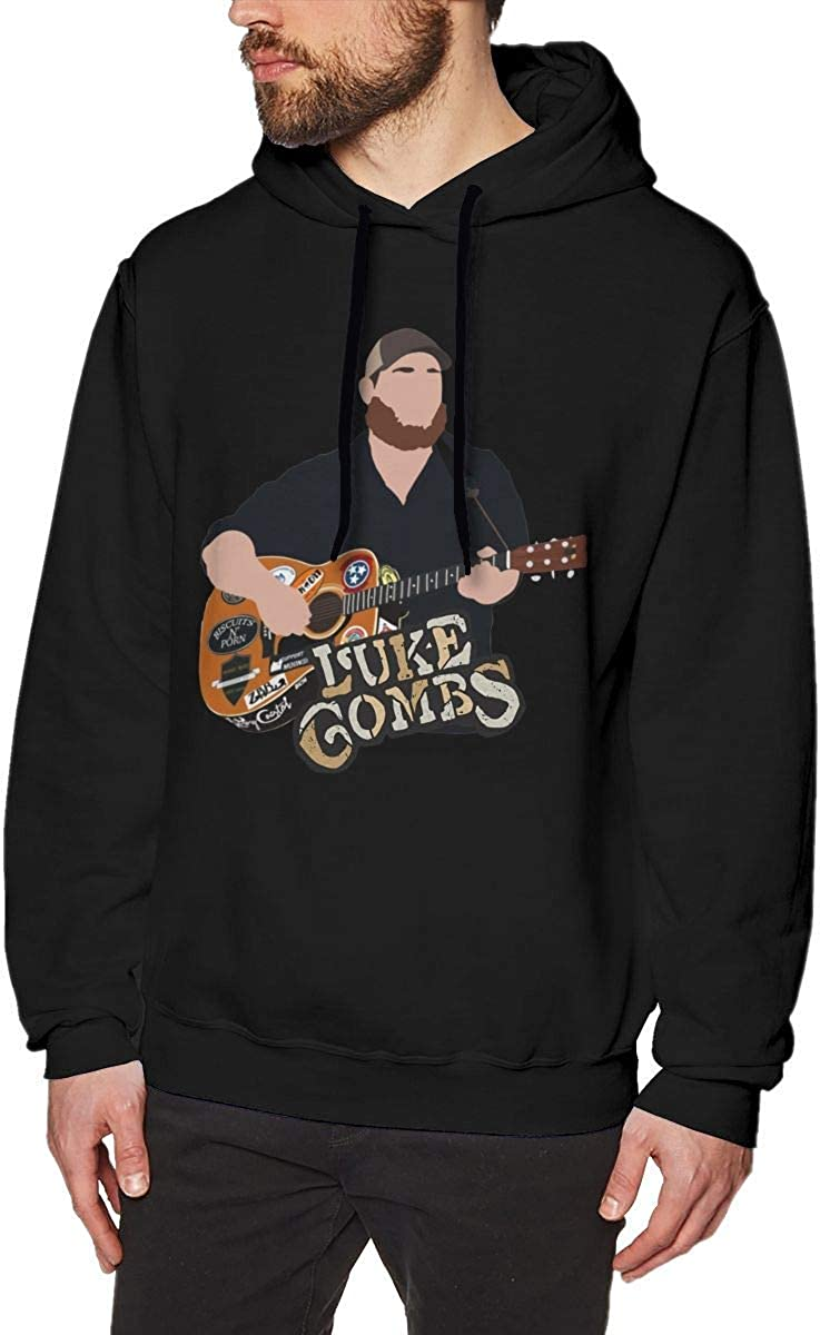 Sudadera Casual de Manga Larga con Capucha Luke Combs Sweatshirts for Men Hoodies Black