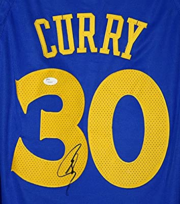 d08d9b39147 Stephen Curry Golden State Warriors Signed Autographed 2018 New Style Blue   30 Jersey JSA LOA COA