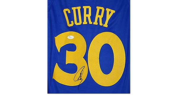 70ecae7b189 Stephen Curry Golden State Warriors Signed Autographed 2018 New Style Blue   30 Jersey JSA LOA COA at Amazon s Sports Collectibles Store
