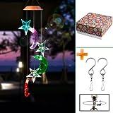 Windspiele - Wantfield LED Solar Windspiel Lichtsensor Farbwechse für Nacht Garten/Hause/Party Dekoration (Kolibri)