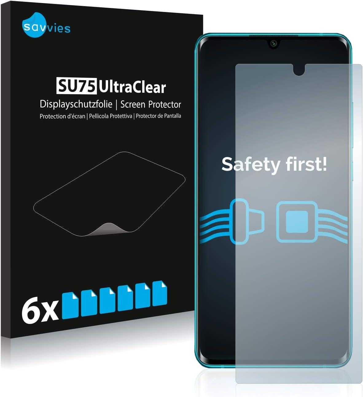 savvies 6-Pezzi Pellicola Protettiva Compatibile con Xiaomi Mi Note 10/10 PRO Protezione Schermo Trasparente