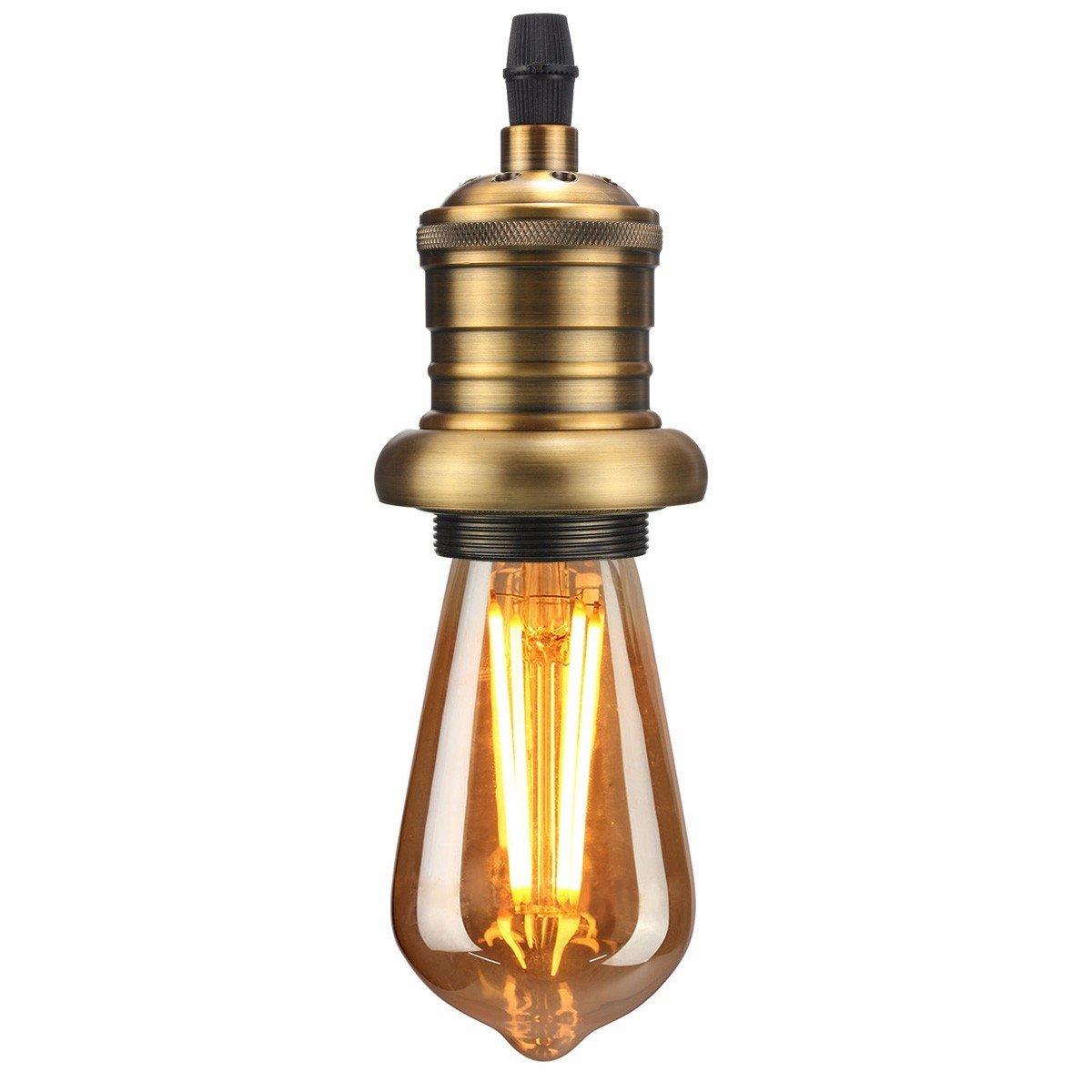 KINGSO E27 Lampenfassung Kupfer Fassung Vintage Edison Pendelleuchte ...
