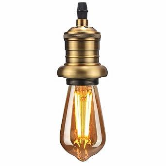 Kingso E27 Lampenfassung Kupfer Fassung Vintage Edison Pendelleuchte