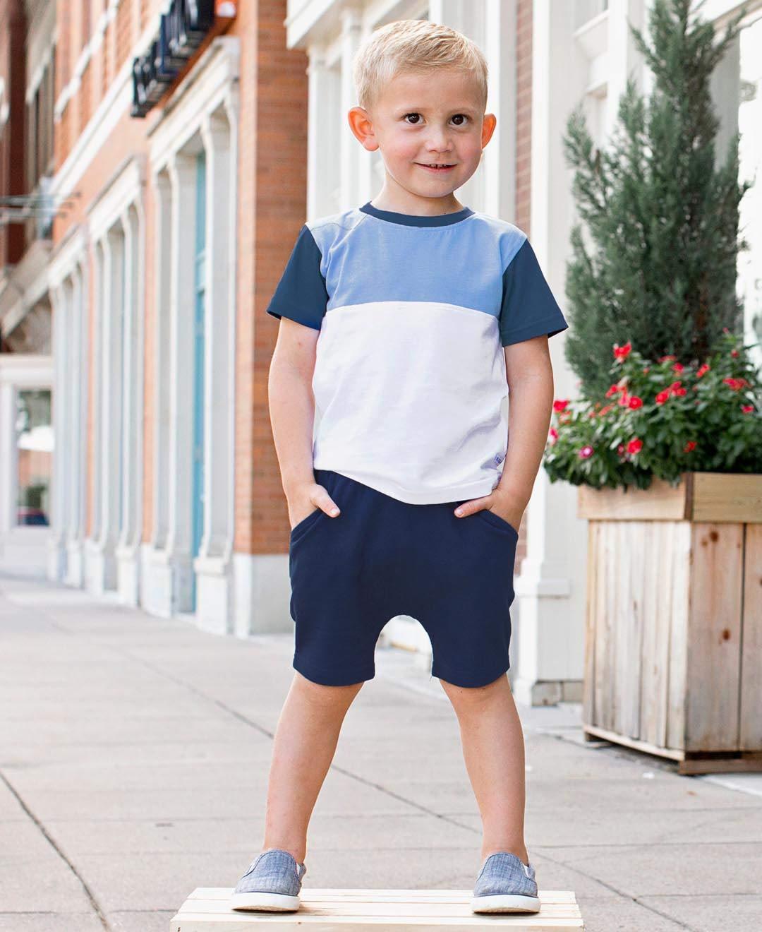 Lurryly 2Pcs Toddler Boys Girls American Flag Splice T-Shirt Denim Shorts Outfits 1-5 T