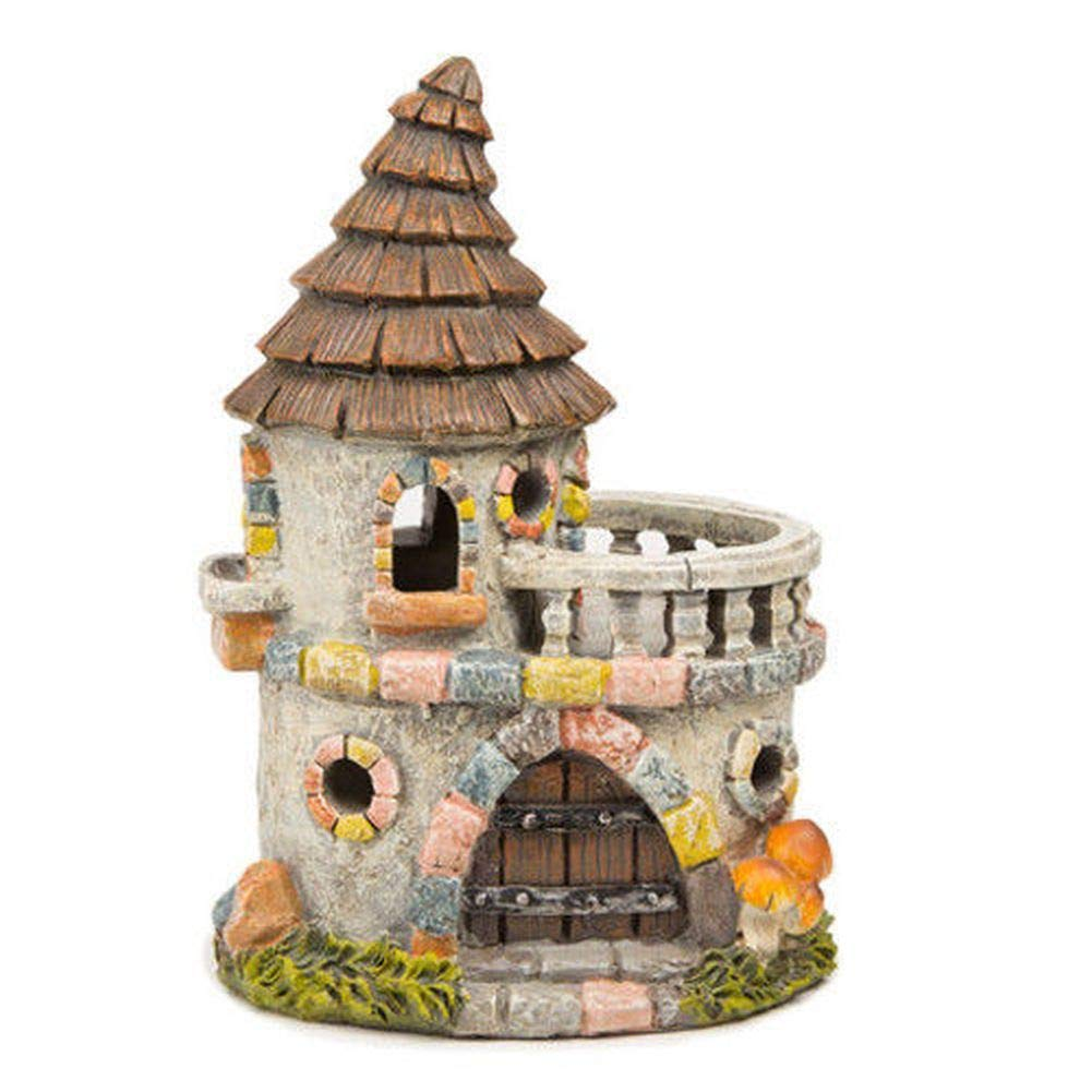 Miniature Dollhouse FAIRY GARDEN - Castle House with Stone Fa?ade - Accessories