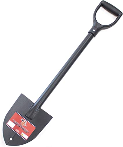 1x Professional Sand Bucket Shovel Two T-Handle 120 cm Steel Handle Bauschaufel