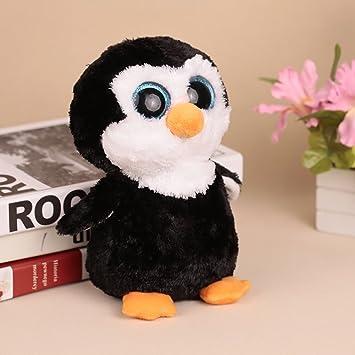 Goolsky 20cm Ojos Grandes Pequeño Pingüino Peluche Gran Ojos Animal de Peluche Regalo de Navidad y