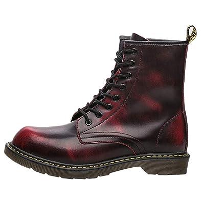 OHQ Botas Militares Hombre Invierno Moda Inglaterra Vintage Botines De Moto Herramientas Resistente Al Desgaste: Amazon.es: Zapatos y complementos