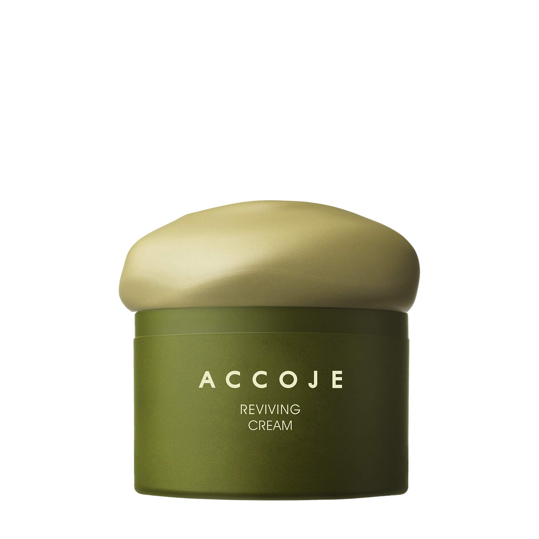 [ACCOJE] Best Korean Skin Reviving Cream, Moisturizing Cream with Jeju Black Radish Extract, Strengthens and Replenishes Skin Moisture,Natural Skin Care, Parabens & Alcahol Free (50 ml)