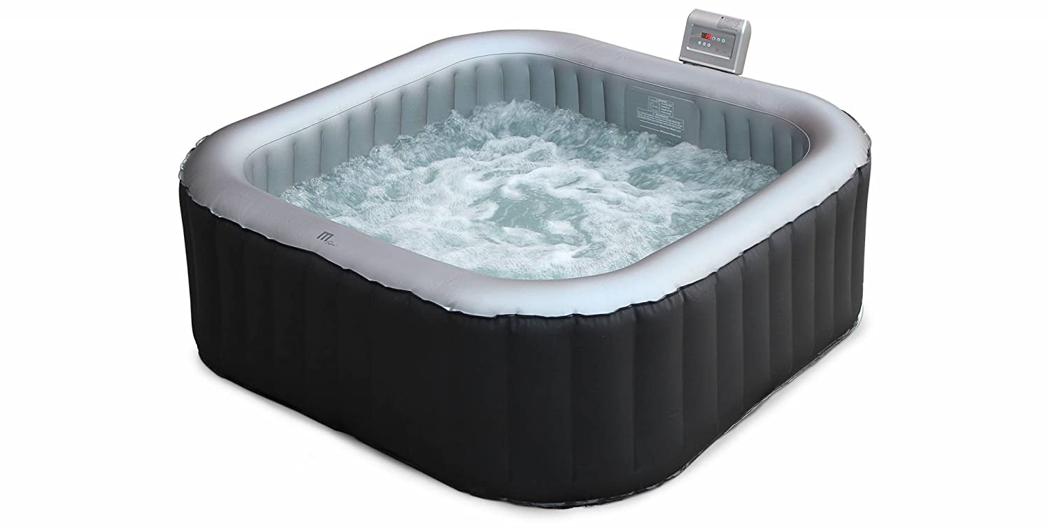 Alices Garden - Spa, jacuzzi hinchable cuadrado para exterior, 6 plazas, 185cm - Toronto - Alices Garden: Amazon.es: Jardín