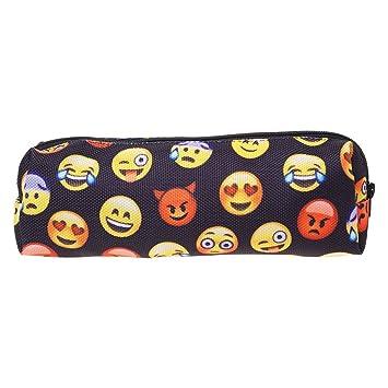 Ruda - Estuche para lápices, diseño de emoji en 3D, bolsa de ...