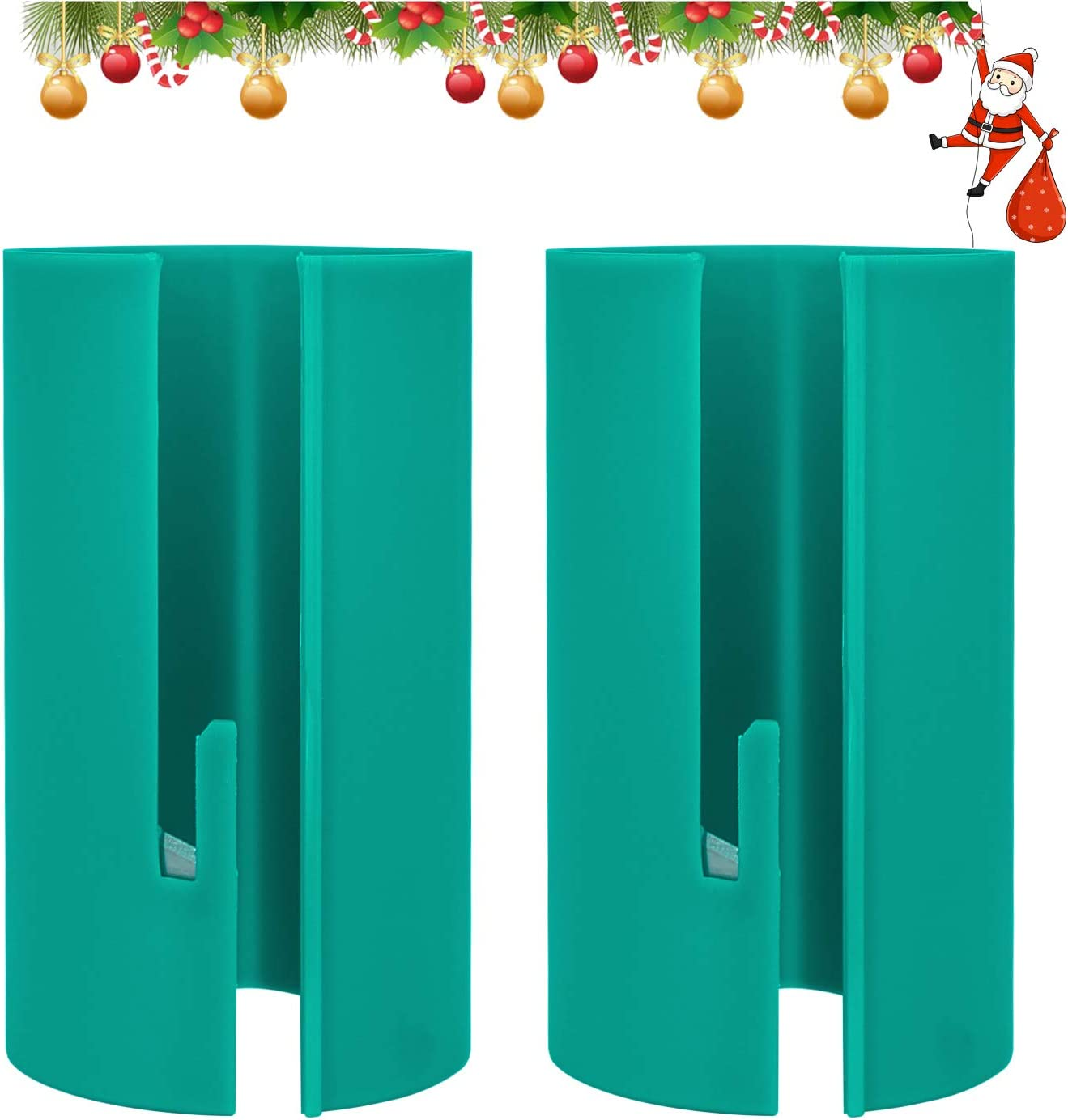 Wrapping Paper Cutter, Gift Wrapping Paper Cutter/Gift Wrapping Paper Cutting Tool/Christmas Gift/Birthday Gift/Green(2 Pack)