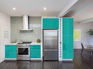 Aufkleber Für Küchenschränke 63x500cm Glanz Folie Aus Hochwertigem Pvc Tapeten Küche Klebefolie Möbel Wasserfest Für Schränke Selbstklebende Folie