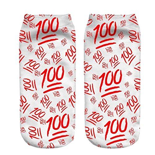 CHIC Funny Sock Red 100 Cartoon Animal Print For Woman Man Boy Girl Free - Shop Soho Where To In