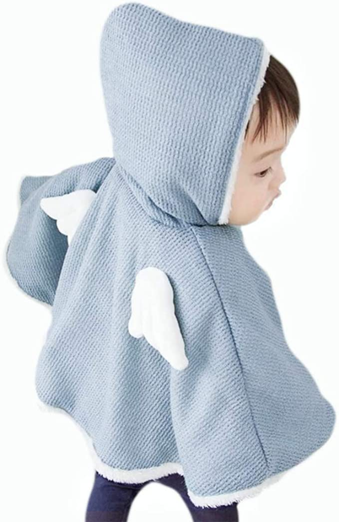 MiyaSudy Toddler Baby Hooded Cape Cloak Poncho Hoodie Coat Snowsuit Outwear