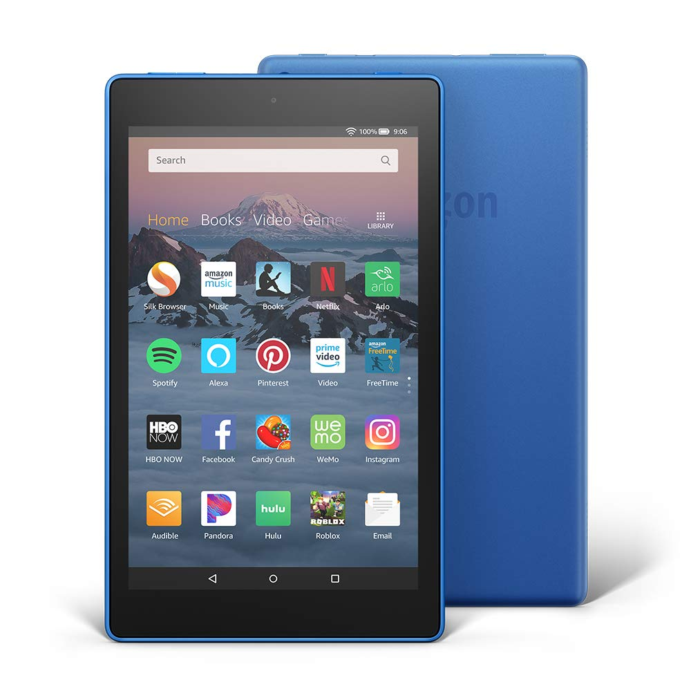 Fire HD 8 Tablet (8'' HD Display, 16 GB)  - Blue by Amazon