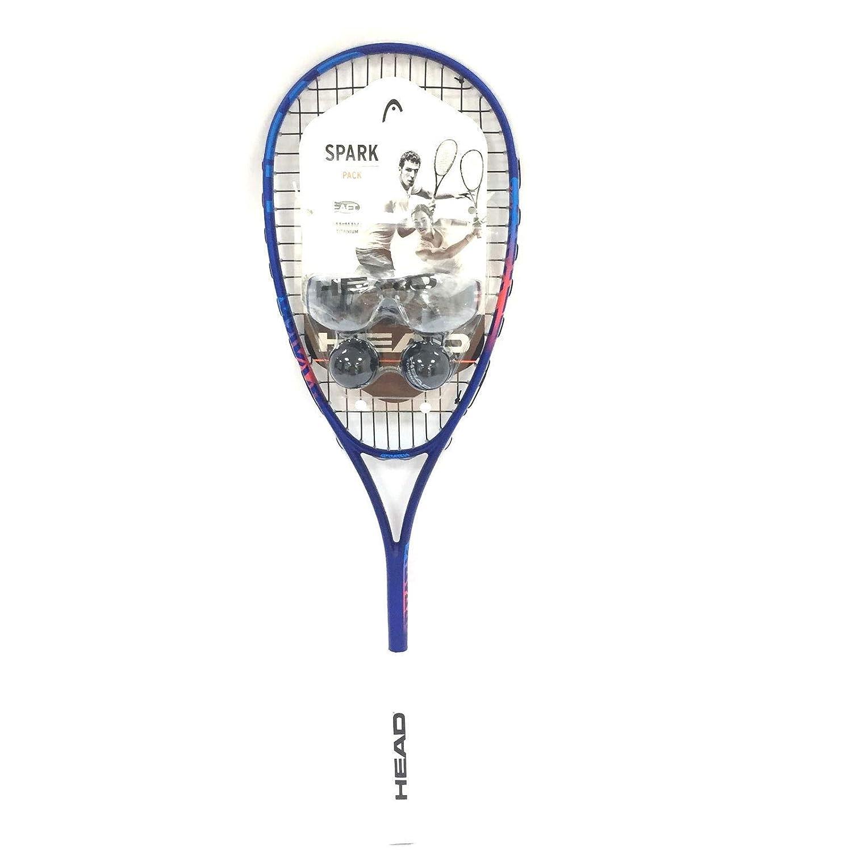 Amazon.com : HEAD Spark Elite Pack Squash Racquet Kit (Racquet, Eyeguards, 2-Balls) : Sports & Outdoors