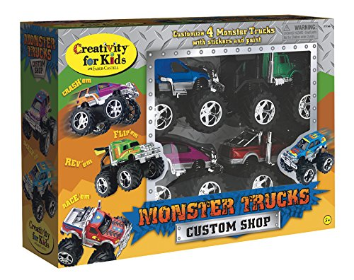 Creativity for Kids Monster Truck Custom Shop - Customize 4 Monster Trucks ()