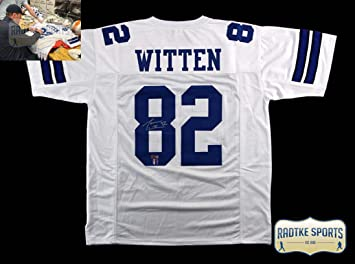 the latest a36c3 a6f6d Amazon.com: Jason Witten Autographed/Signed Dallas Custom ...