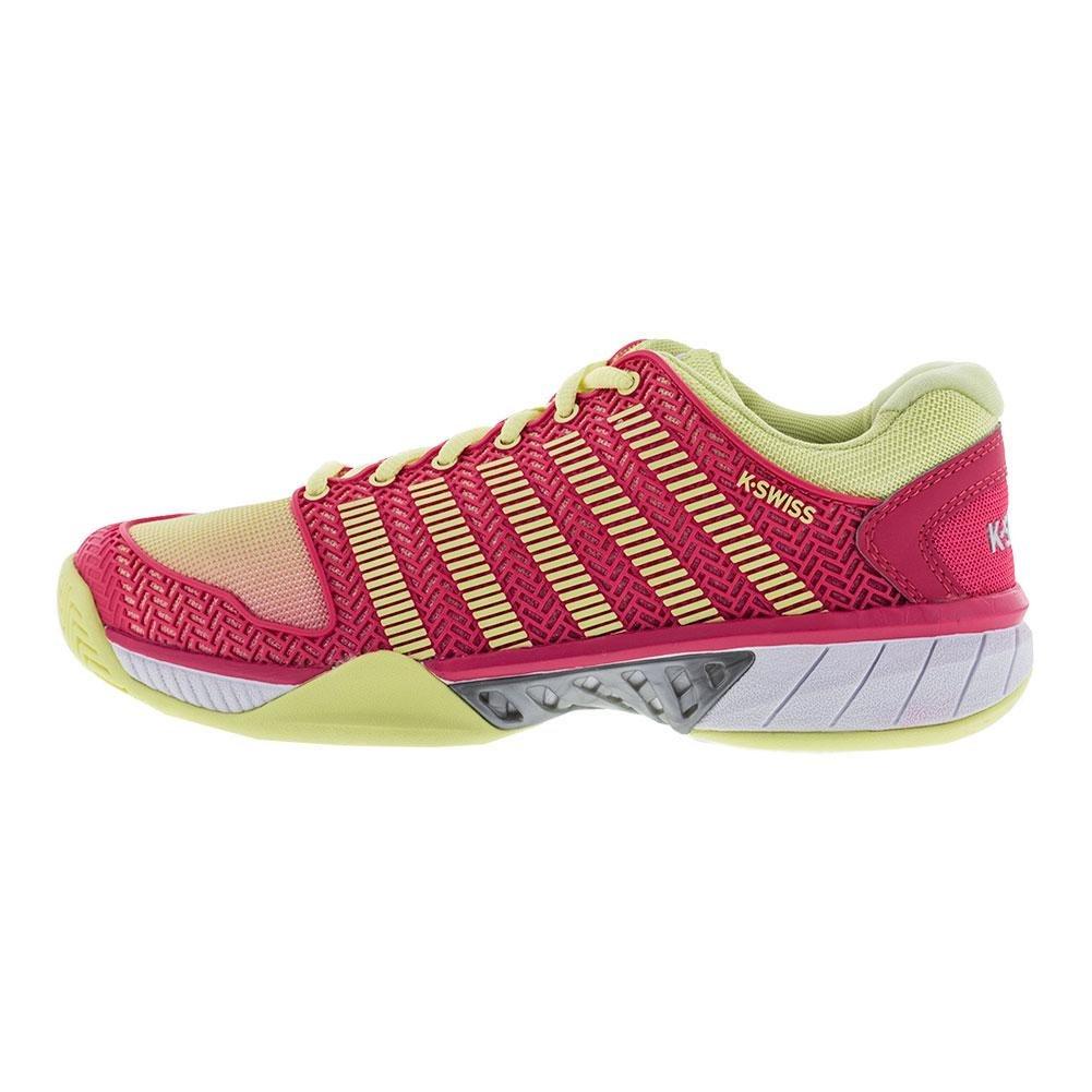 K-Swiss Women's Hypercourt Express Tennis Shoe B01NBYWWO2 6.5 B(M) US|Pale Lime Yellow/Raspberry