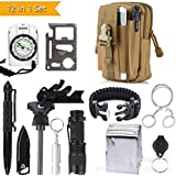 2018 Professional Emergency Survival Gear Kit 12 In 1 Outdoor Survival Tool Whistle Flashlight Tactical Pen