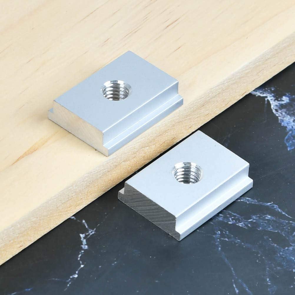 HONMIED 10 Piezas Tuerca en T de 30x23mm Tuercas Deslizantes Roscadas M8 Tuerca Deslizante para Herramientas de Carpinter/ía Tuercas en T Ranuradas de Aluminio