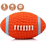 Dog Squeak Chew Ball Toys,oneisall Pet Durable Latex Balls Interactive Toy for Puppy Dogs,Rugby