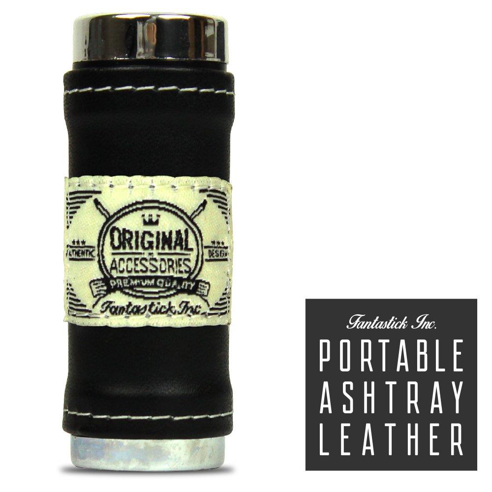 ポケットポータブル灰皿by Fantastick。 One Size ブラック B0757HL5MM ブラックレザー ブラックレザー