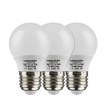 ChiChinLighting 3-Pack 12 V Bombilla de luz LED, Bombilla E27 Bombillas LED de 12 V Bombilla de bajo voltaje ...