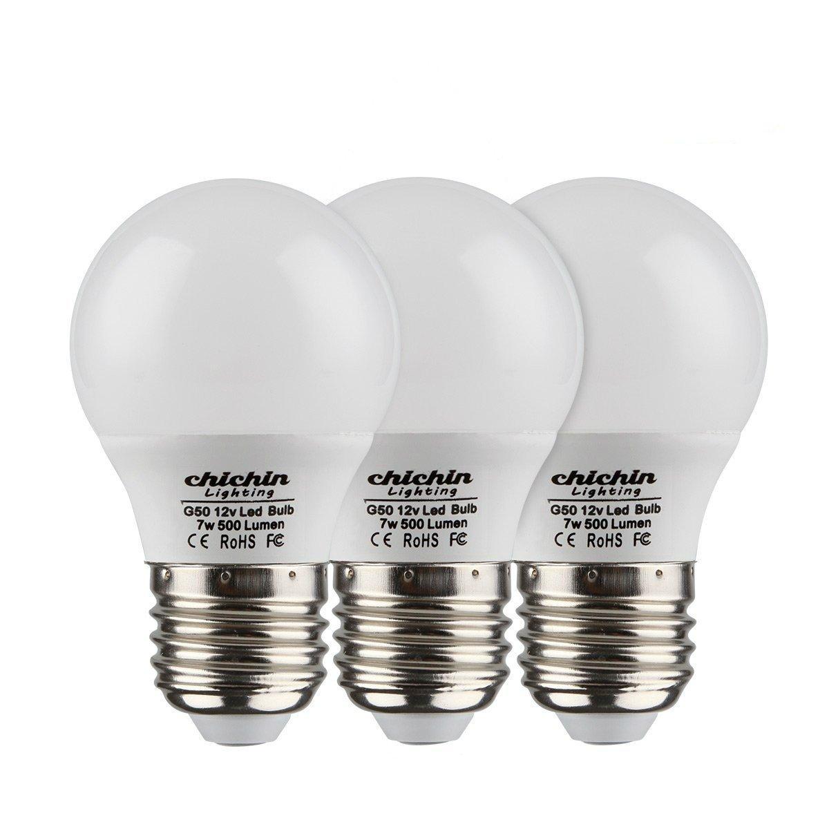 Details about ChiChinLighting 12 Volt 7 Watt LED Light Bulb (3 Bulbs Per  Pack) - E26/E27 Light