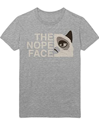 Hypeshirt T-Shirt The Nope Face The North Face Grumpy Cat Mash up Funny  Hipster H970008: Amazon.de: Bekleidung