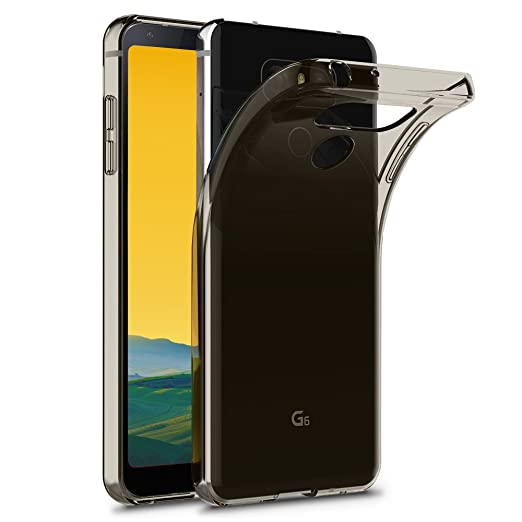 11 opinioni per Terrapin TPU Gel Custodia per LG G6 Custodia, Colore: Trasparente Nero