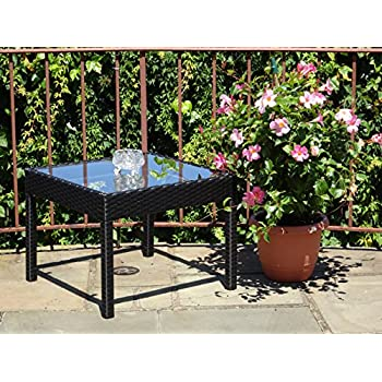 Amazon.com : Patio Resin Outdoor Wicker Side End Square
