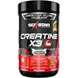 Creatine + BCAA | Six Star Creatine X3 Powder | Creatine Monohydrate +Creatine HCl | Post Workout Muscle Recovery + Muscle Bu