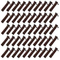 Crqes 50 Pcs Coffee Velvet Pen Pouch Sleeve Holder Single Pen Bag Case Pencil Bag
