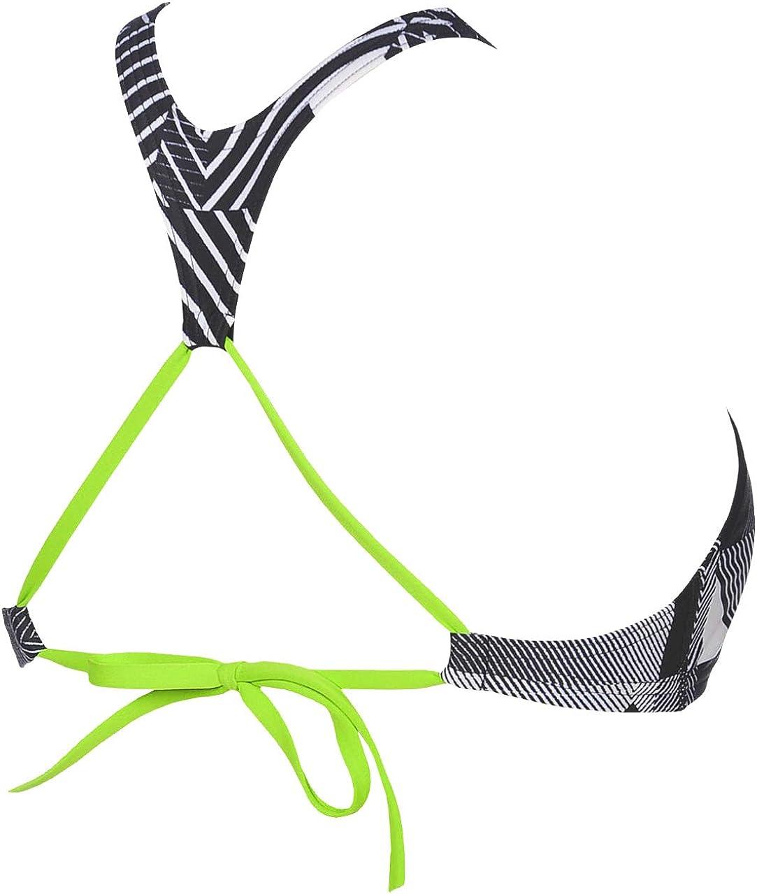 arena Damen Profi Trainings Bikinioberteil Crop Think Schnelltrocknend, UV-Schutz UPF 50+, Chlorresistent