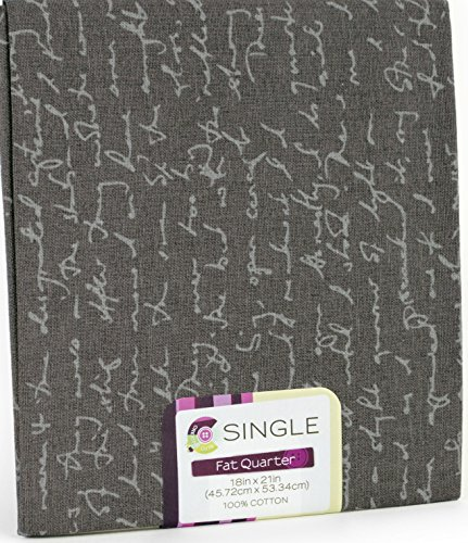 ll antique cursive writing words Gray on charcoal, onyx background ~ 100% COTTON FABRIC ~ Quilt Fabric ~ CRAFTS ~ SEWING ()