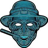 iZHH Halloween Sound Reactive Full Face LED Light Up Mask Dance Rave Party