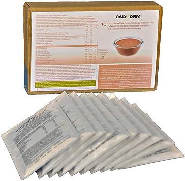 CALYFORM Natillas proteicas para dieta sabor Chocolate y Pera saciante | Proteína en polvo para preparar natillas de calidad y aporte en aminoácidos ...