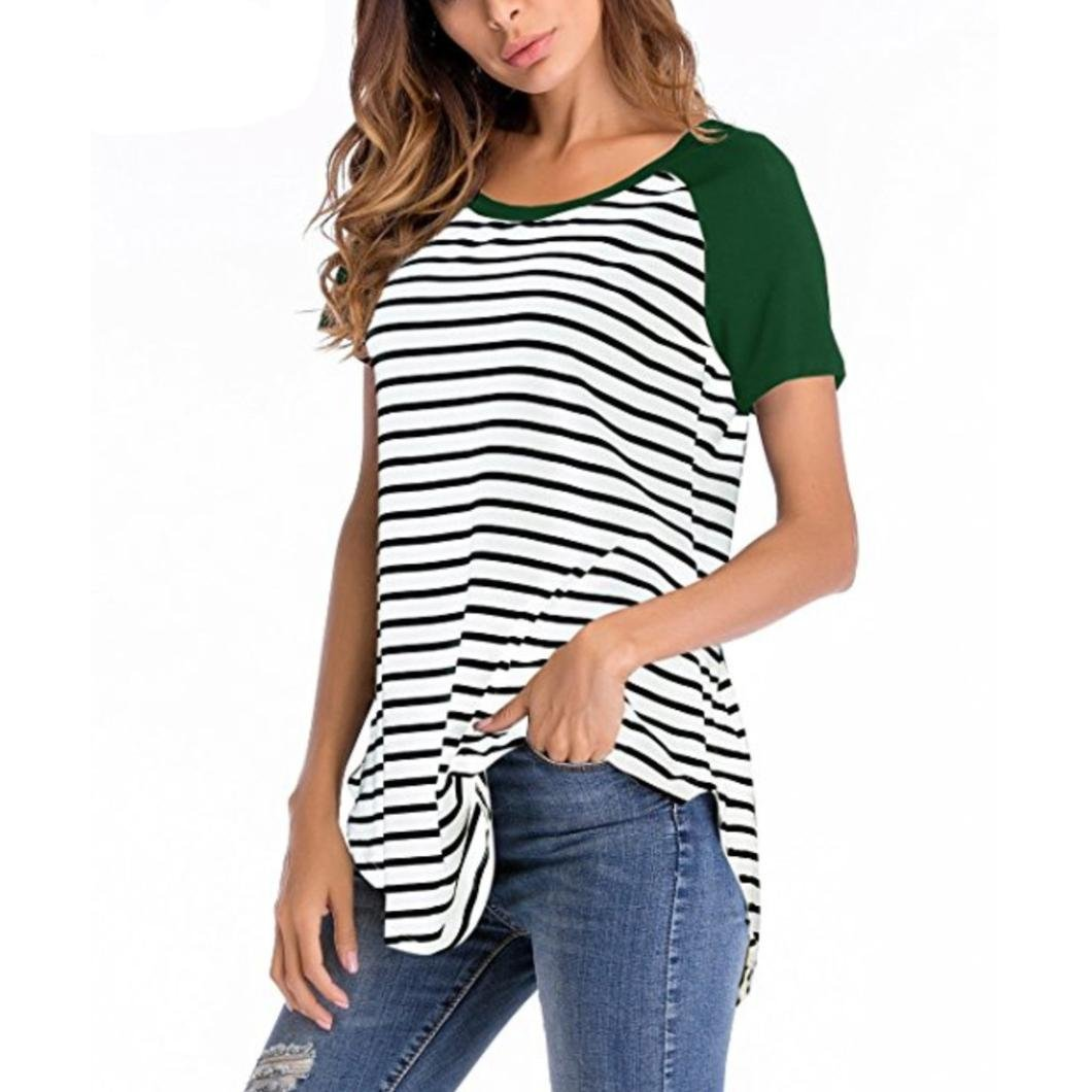 ce5adc01eb646 Womens Striped Raglan T Shirt