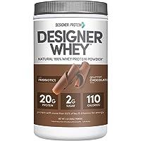 Designer Protein Whey Protein Powder, Gourmet Chocolate, 2 Lb, Non GMO, Made in USA