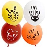 Bundle Monster Cute 32pc Kids Birthday Party Balloons - Safari Animal Theme