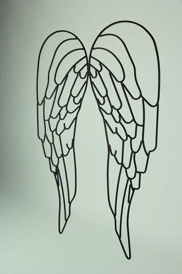Distinctive Designs Metal Wire Art Angel Wings Wall Sculpture 25 inch